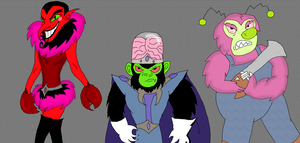 HIM, Mojo Jojo, and Fuzzy in a New Style by PurfectPrincessGirl