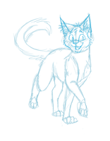 Happy cat sketch by Finchwing