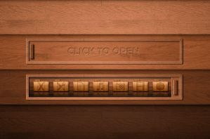 Wooden Slide Dock for XWidget by boyzonet
