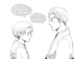Erwin x Rivaille by Risaa66