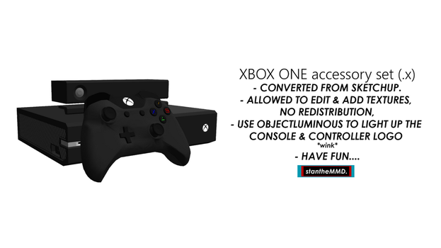 [MMD] Xbox One Accessory Set DL by stantheMMD