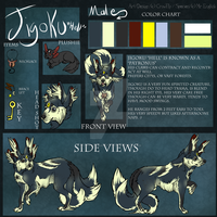 Reference Sheet Of Jigoku (Contest entry.) by GalaxyCrowButt