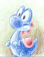 prussian blue yoshi by W1cHimATuEcumBi