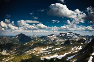 A Sea of Cumulous by mountaintops
