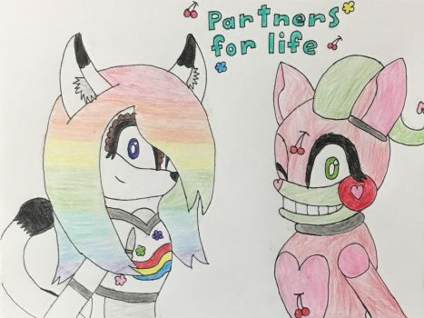 Pastal and Cherri - Parthers for life by Painteddragon360
