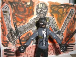 BAD ASS ACTION FIGURE with poster 08 by ztenzila