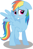 shy rainbow dash 2nd vector by matty4z