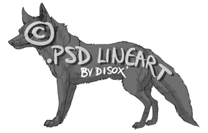 .PSD Fox Lineart for Sale by Disoxyde