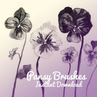 Pansy Brushes by corelila