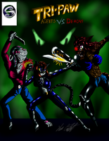 Tri-paw Agents vs Demons cover ch 5 by MrSman5