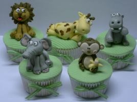safari cupcakes by anafuji