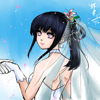 Hinata in wedding gown by shrimpHEBY