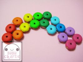 Rainbow Donuts by efeeha