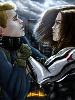 Bucky, please.. by pain-art
