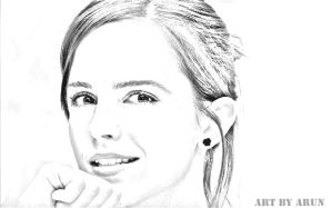 Emma-watson Pencil Art by arunash