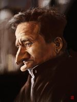 Robin Williams tribute caricature by KhasisLieb