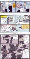 Wolfenstein: The New Order, doodles 2-4 by Ayej