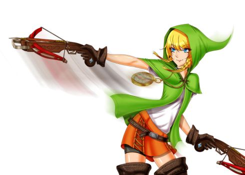 Hyrule Warriors - Linkle by iforher