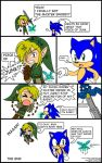 Adventures of Link and Sonic-1 by Jen-C