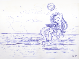 Collecting Beach Balls by KP-ShadowSquirrel