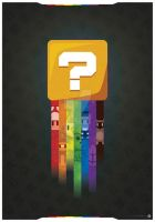 Super Mario Question Poster Alternative Version 1 by DarkoDesign