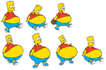 Bart Simpson, The Fattest Boy in Springfield by FumuLover