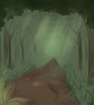 Forest Path by Angelfeathers137