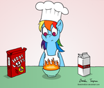 Chef Rainbow Dash - Day 19 by SketchinEtch