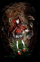 Creepy little red riding hood by Lilylalice