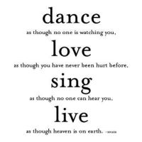 dance, love , sing , live by craxyness