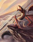 Daenerys, Mother of Dragons (Detail) by gonzalokenny