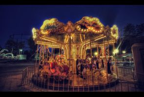 Watching The Carousel HDR by ISIK5