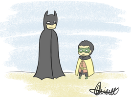 Batman and Robin -- Father and son hanging out by OnTDre