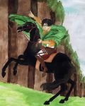 Levi Crossing the Forest of Giant Trees by AlbinoAwesome