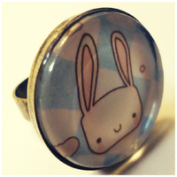 Handmade Bunny Ring by cellsdividing