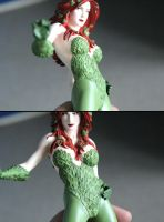 Poison Ivy Statue re-paint in progress by Joker-laugh