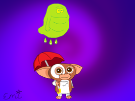 Gizmo and Slimer by EmiOhki
