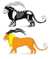 Trick or Treat Deamon lions Sold by Leland-Adopts
