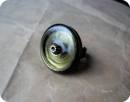 big steampunk ring by IkushIkush