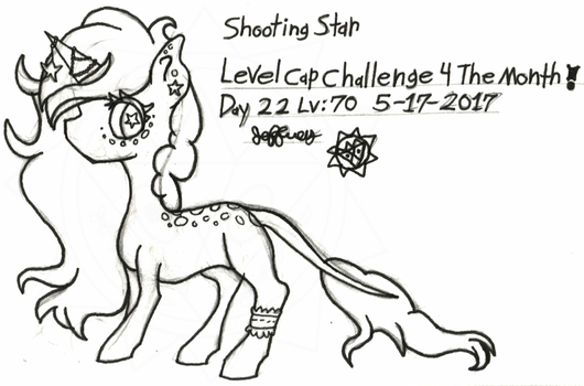 Level-Cap-Challenge-Day-22 Shooting Star by bassmegapokemonlover