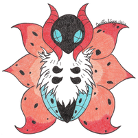 Chibi Volcarona by StrawberrieMew