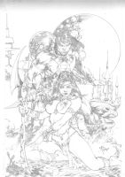 john carte and dejah thoris by Iago-Maia