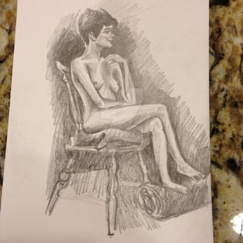 Life Drawing - Tracey 2-11-14 by Ambair