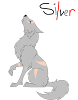 WereWolf OC Wolf form by RaindropLily