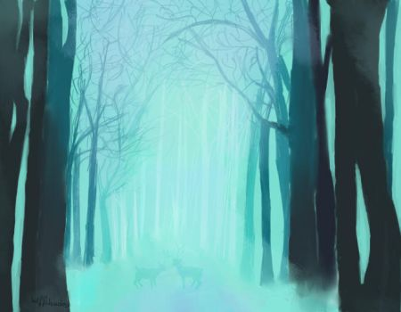 Blue Forest by Wiffshades