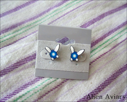 Legend of Zelda Navi Earrings by alienaviary