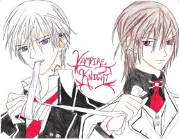 zero and kaname by twinLtwinV