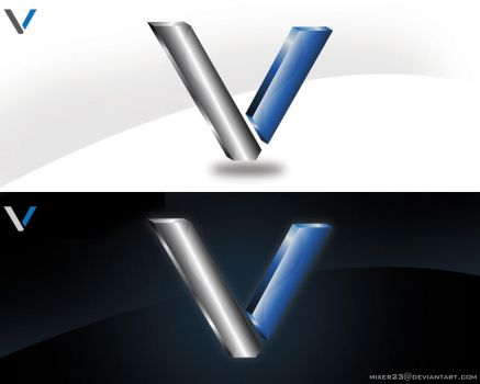 v logo by mixer23