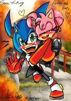 Amy x Sonic pucca crossover by Amely14128