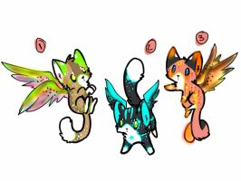 Winged kitten adopts  by xXFluffehWolfXx